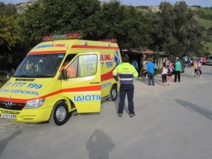 Die Ambulanz war auch dabei
