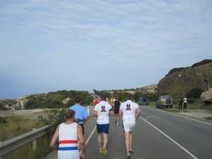 Unterwegs auf dem ersten Kilometer